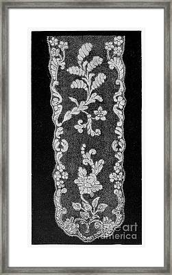 Lace, 18th Century Framed Print by Granger