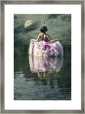 Lady In The Lake Framed Print by Joana Kruse