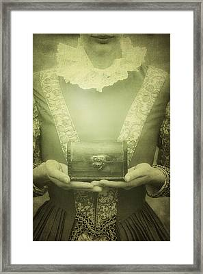 Lady With A Chest Framed Print by Joana Kruse