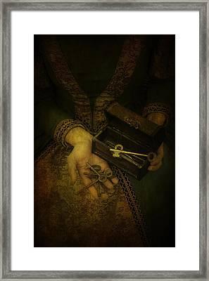 Lady With Keys Framed Print by Joana Kruse