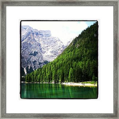 Lago Di Braies Framed Print