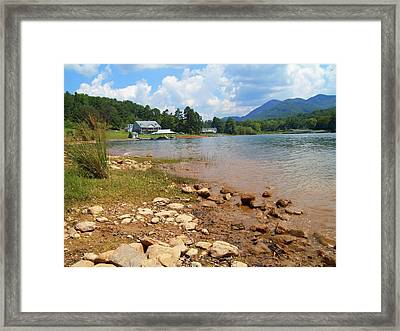 Framed Print featuring the photograph Lake Chatuge View by Lou Ann Bagnall