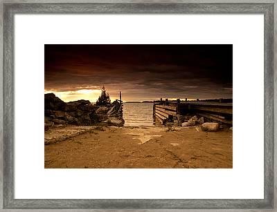 Lake Huron Dock Framed Print by Cale Best