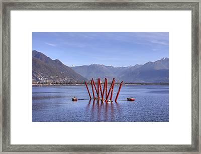 Lake Maggiore Locarno Framed Print by Joana Kruse