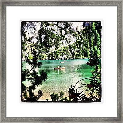 Lake Of Braies - South Tyrol Framed Print