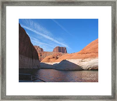 Lake Powell Shoreline Framed Print by Merton Allen