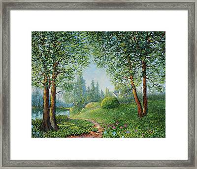 Framed Print featuring the painting Lake Steilacoom by Charles Munn
