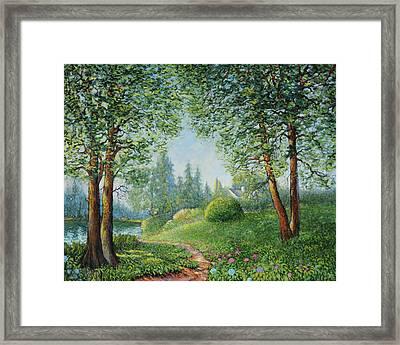 Lake Steilacoom Framed Print by Charles Munn