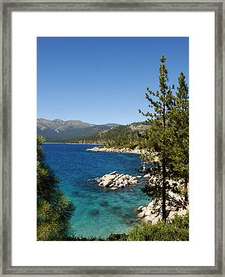 Lake Tahoe Shoreline Framed Print by Scott McGuire