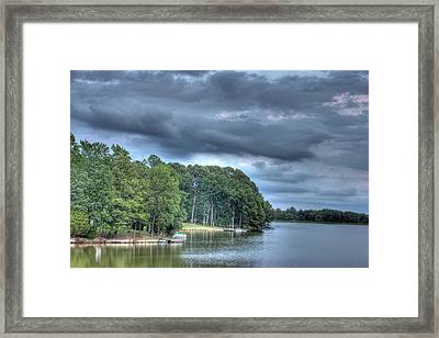 Lakeside Framed Print by Barry Jones