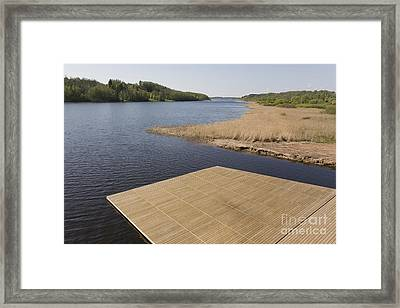 Lakeside Dock Framed Print by Jaak Nilson