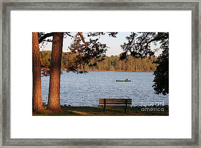 Framed Print featuring the photograph Lakeside by Todd Blanchard