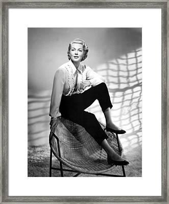 Lana Turner, 1950s Framed Print by Everett
