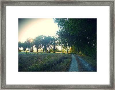 Landscape Near Mauvezin Framed Print by Sandrine Pelissier