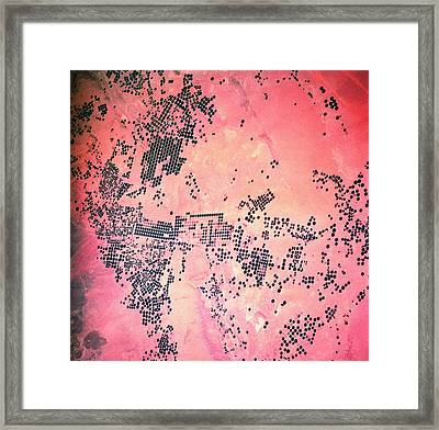 Landscape Of Earth Viewed From Space Framed Print by Stockbyte