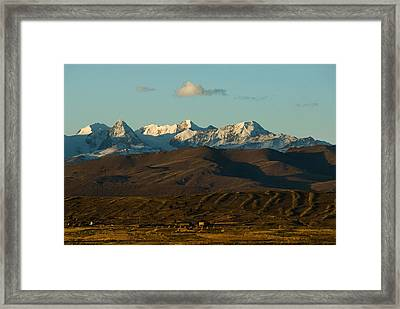 Landscape Of The Highlands And The Cordillera Real. Republic Of Bolivia. Framed Print by Eric Bauer