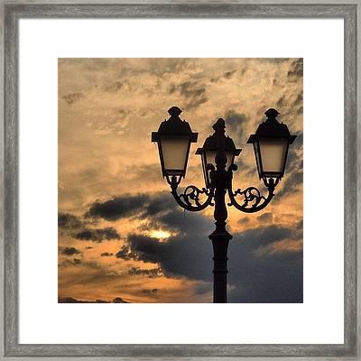 Lanterns At Sunset Framed Print