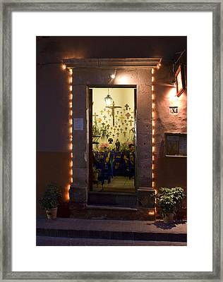 Framed Print featuring the photograph Las Cruces by Lynn Palmer