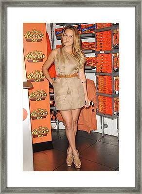 Lauren Conrad At A Public Appearance Framed Print