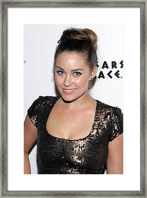 Lauren Conrad In Attendance For Lauren Framed Print by Everett