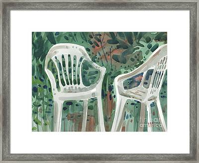 Lawn Chairs Framed Print by Donald Maier
