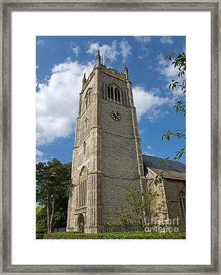 Laxfield Church Tower Framed Print by Ann Horn