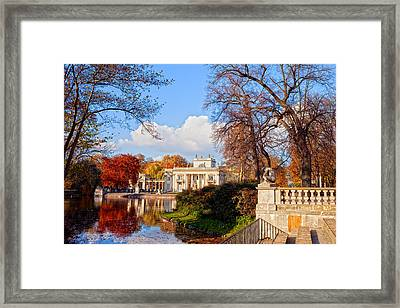 Lazienki Park In Warsaw Framed Print by Artur Bogacki