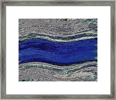 Lazy River Framed Print by Marsha Heiken