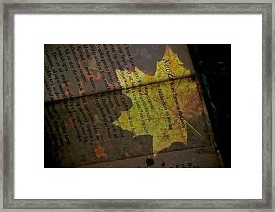 Leaves Framed Print by Odd Jeppesen