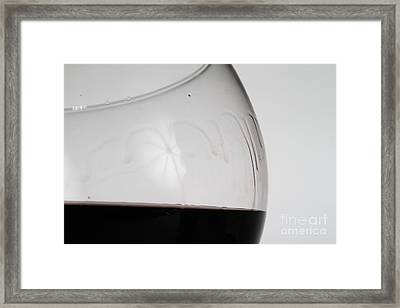 Legs Of Wine Framed Print by Photo Researchers, Inc.