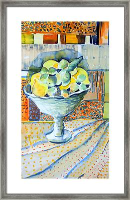Lemon Lime Abstract Framed Print by Mindy Newman
