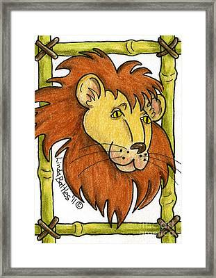 Leo Framed Print by Linda Battles