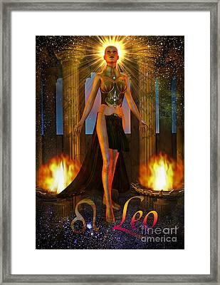 leo Framed Print by Shadowlea Is