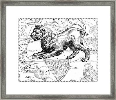 Leo, The Hevelius Firmamentum, 1690 Framed Print by Science Source