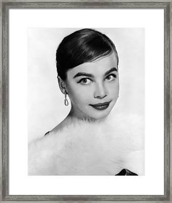 Leslie Caron, Ca. 1950s Framed Print