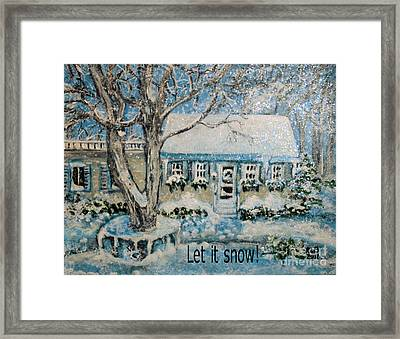 Framed Print featuring the painting Let It Snow by Rita Brown