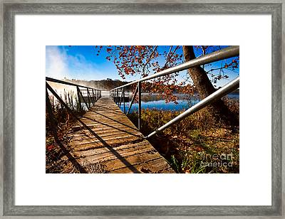 Framed Print featuring the photograph Let's Go Fishing by Lawrence Burry