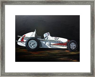 Let's Race Framed Print by Cindy Cradler