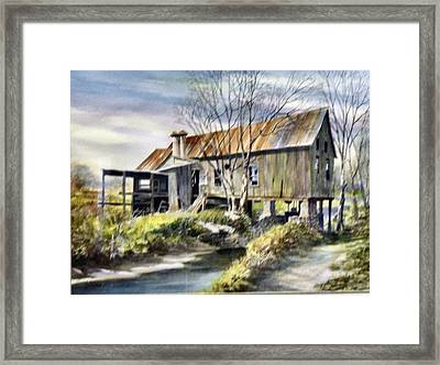 Levy Deas Grist Mill  Sold Framed Print
