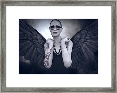 Libertine Angel Framed Print by Maynard Ellis