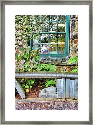 Library Bench Framed Print by Jack Schultz