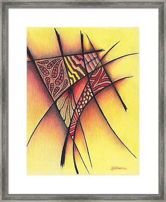 Framed Print featuring the drawing Life On The Grid by Buck Buchheister