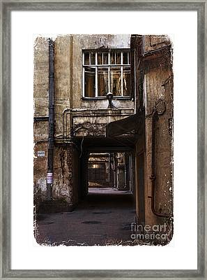 Light At The End Of The Tunnel Framed Print by Elena Nosyreva