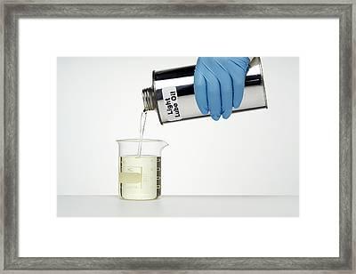 Light Lubricating Oil Framed Print