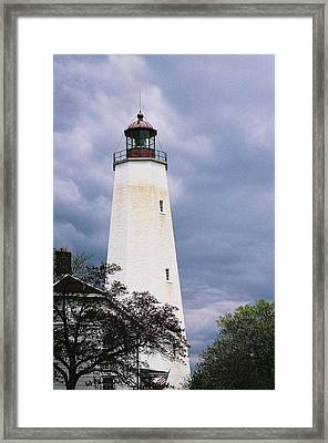 Lighthouse At Sandy Hook Framed Print by William Walker
