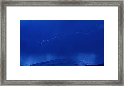 Lightning Framed Print by Peter Bolton