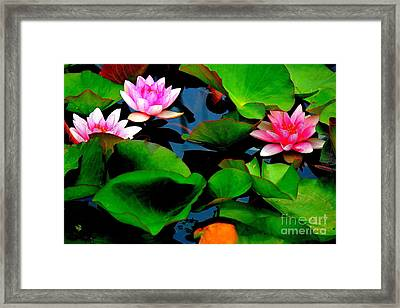 Lilly Abstract Framed Print