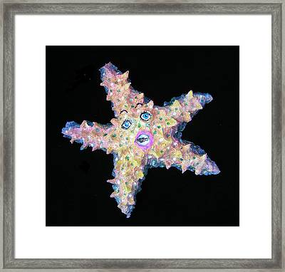 Lilly The Star Fish Framed Print by Dan Townsend