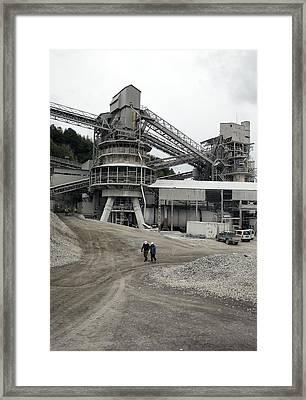 Limestone Kiln Framed Print