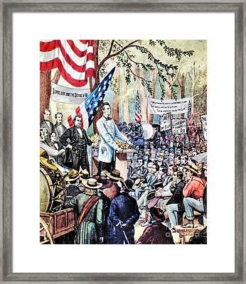 Lincoln-douglas Debate Framed Print by Granger